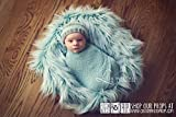 LARgE Teal Twist Faux Flokati Wool or Faux Fur Baby Photography Props, Newborn Photo Props, Fabric, Baby Blanket, Baby Props, Blue, Props