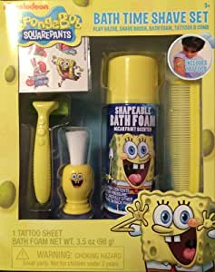 SpongeBob Squarepants Bath Time Shave Set 5 Piece Set