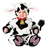 InCharacter Unisex-baby Infant Mini Moo Costume, White/Black, Large