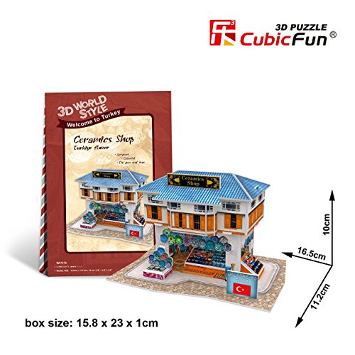 CubicFun 3D Puzzle World Style-Series ''Turkiye Flavor - Ceramics Shop''