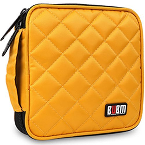 32 Capacity CD / DVD Wallet, 230D Space Twill Cover, Various Colors - Giallo