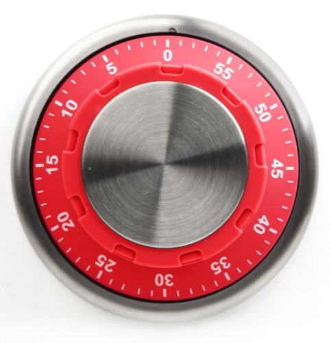 Kikkerland Safe Kitchen Timer, Red (Fridge Lock With Timer compare prices)