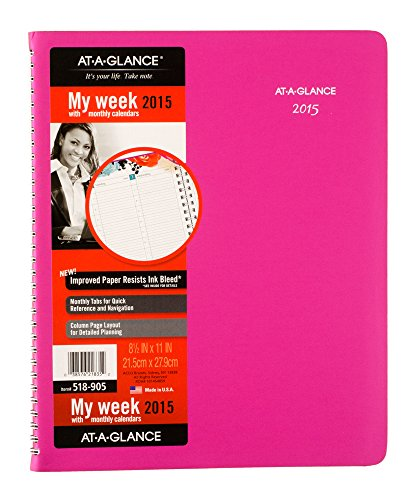 AT-A-GLANCE Weekly and Monthly Planner 2015, Urban Garden, Wirebound, 8.5 x 11 Inch Page Size (518-905)