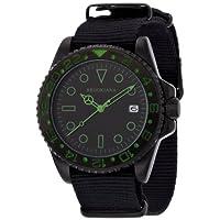 [ブルッキアーナ]BROOKIANA 腕時計 クオーツ アナログ表示 10気圧防水 ブラック×グリーン BA1702-BKGR メンズ