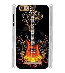 Electric Guitar Soft Silicon Rubberized Back Case Cover for Gionee Marathon M5