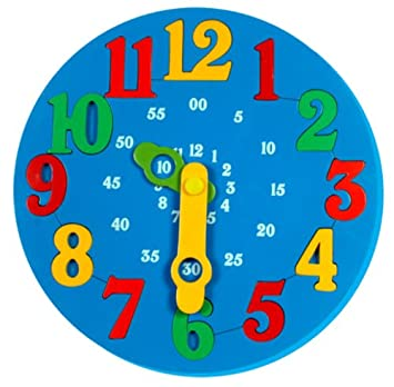 Buy Little Genius Time Learning Clock, Blue Online at Low Prices ...
