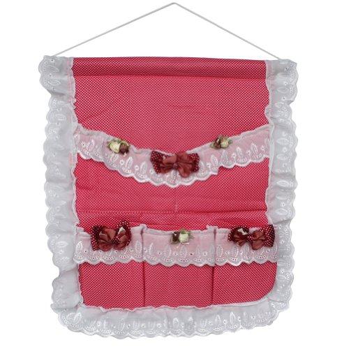 [Polka Dot & Bud Silk] Red/Wall Hanging/ Hanging Baskets / Wall Baskets / Baskets (17*18)