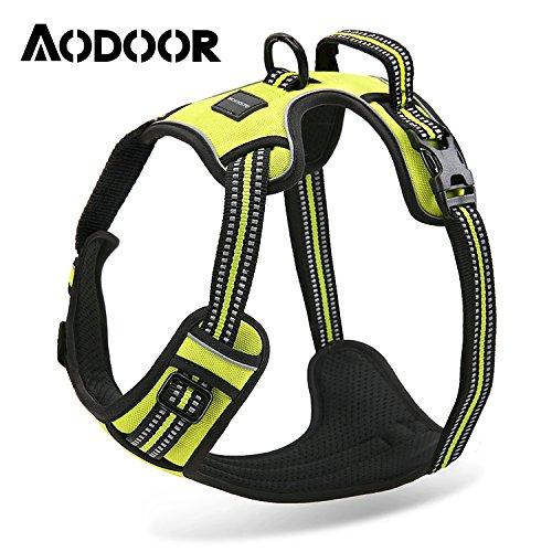 Aodoor-Ultra-Soft-Hundegeschirr-Softgeschirr-Brustgeschirr-Hunde-Geschirr-Sicherheitsgeschirr-M-Grn
