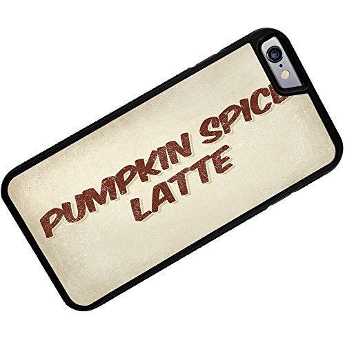 Rubber Case For Iphone 6 Plus Pumpkin Spice Latte Coffee, Vintage Style - Neonblond