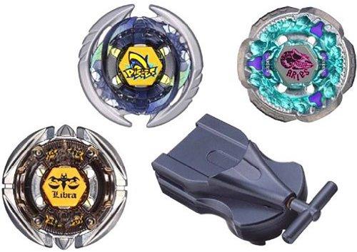 Beyblades JAPANESE Metal Fusion #BB57 Hybrid Wheel Set Stamina Defense Type