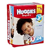 Huggies Baby Diapers, Snug & Dry, Size 5 (Over 27 lbs), Case of 4/24s (96 ct)