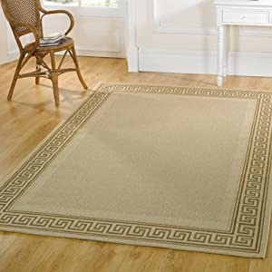 Flair Rugs Florence Lorenzo Rug, Beige, 160 x 230 Cm from Flair Rugs