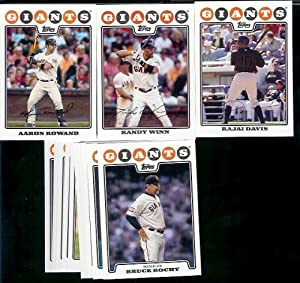 San Francisco Giants Baseball Cards - 6 Years Of Topps Team Sets 2004,2005,2006,2007,... by Topps