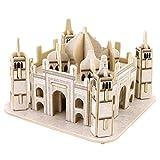 Happy Cherry 3D Puzzle Madera DIY Arquitectura Modelo Juguete Educativo Piezas Construcción Juego para Niño Niña - Taj Mahal