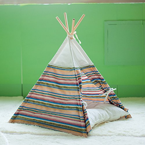 Cat teepee bed playhouse amazing cat stuff for Diy cat teepee