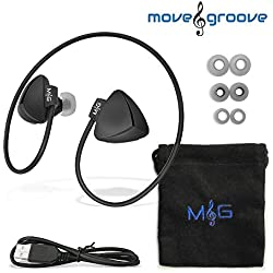 Best Bluetooth Sport Headphones Wireless Headphones with Bluetooth 4.0 Comfortable Earbuds for Sports Running & Workout by Move&Groove