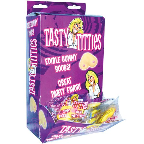 "Brand New Tasty Titties Edible Gummy Boobs (DP/50) ""Category: Edible"" (Sold Per Display)"