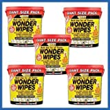 5 X Everbuild Giant Wonder Wipes Multi Purpose Hand Wipes - 300 Tub