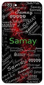 Samay (Time) Name & Sign Printed All over customize & Personalized!! Protective back cover for your Smart Phone : Moto G2 ( 2nd Gen )