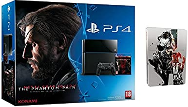 Console PlayStation 4 + Metal Gear Solid V : The Phantom Pain + Steelbook exclusif Amazon