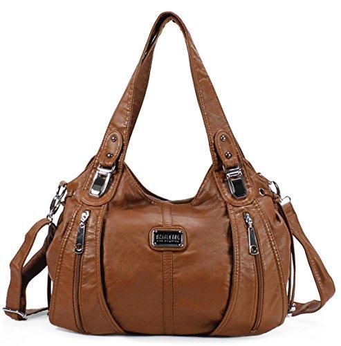 Scarleton Center Zip Shoulder Bag H147404A - Brown (Amazon Purses compare prices)