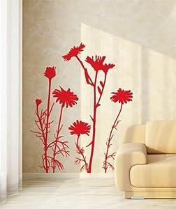 """Adesivo murale Wall Art """"Astri selvatici"""" - Misure 94x120 cm - Decorazione parete, adesivi per muro, carta da parati"""