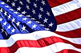 U.S. American Flag 4'x6' Embroidered Stars and Brass Grommets [ 2'x3', 3'x5', and 5'x8' also Available ] US Based Company that donates 30% of Flag Proceeds to Fallen Servicemen and Women. 100% Money Back Guarantee.