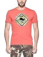 Hot Buttered Camiseta Manga Corta Leaf (Rojo)