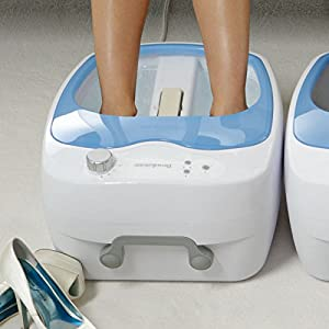 Brookstone<sup>®</sup> Heated Aqua-Jet Foot Spa width=