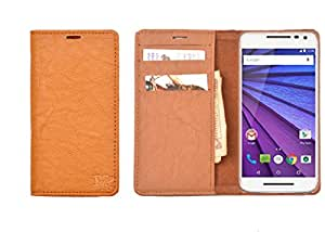 R&A Pu Leather Wallet Case Cover For Motorola Moto G4 Plus