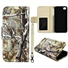 Camo Realtree Camouflage Flip Wallet Apple Iphone 5, 5S Leather Pouch With ID Slot at&t. Verizon, Sprint, C Spire Case Cover Hard Phone Case Snap-on Cover Protector Rubberized Touch Faceplates