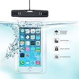 防水/防塵携帯ケース・カバー 3.5-6.0インチなど全機種スマートフォン対応 救助用ネックストラップ付属 IPX8