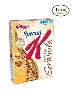 Special K Cereal, Low Fat Granola, 19.5 Ounce (Pack of 10)