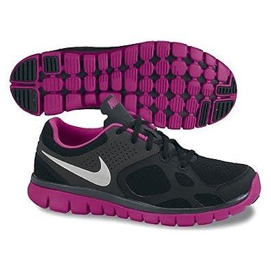 7e64ed382c0a wanryuo  Nike Flex 2012 Women s Running Shoe  512108 009  Black Pink