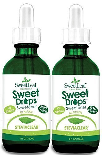 Sweetleaf Stevia Extract Clear Liquid 120ml 4oz X 2 (Stevia Clear Liquid Extract 4 Oz compare prices)