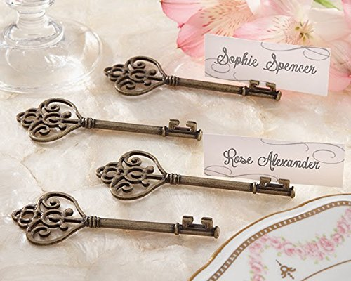 48 Key To My Heart Victorian-Style Key Place Card Holder cloud style magnetic key holder white