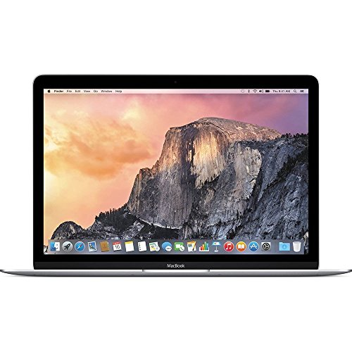 Apple Macbook Retina Display 12 Inch Premium Laptop (Full-HD LED Backlit IPS Display, Intel Core M-5Y31 1.1GHz up to 2.4GHz, 8GB RAM, 256GB SSD, Wi-Fi, Bluetooth 4.0) Silver (Certified Refurbished)