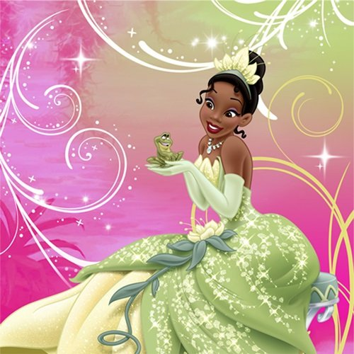Princess and the Frog Sparkle Beverage Napkin 16 count - 1