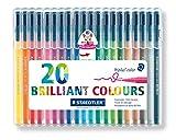 from Staedtler Staedtler Triplus Colour 323 SB20 Fibre-Tip Pen Desktop Box - Assorted Colours (Pack of 20) Model 323 SB20P