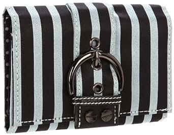Sydney Love Stripe Collection Wallet,Silver/Black,One Size