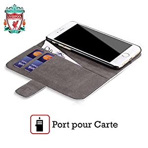 Official Liverpool FC LFC Red Geometric 1 LFC Crest 1 Leather Book Wallet Case Cover for Apple iPhone 5 / 5s from Official Liverpool Football Club