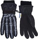 N'Ice Caps Boys Skeleton Print Waterproof Reflector Glove