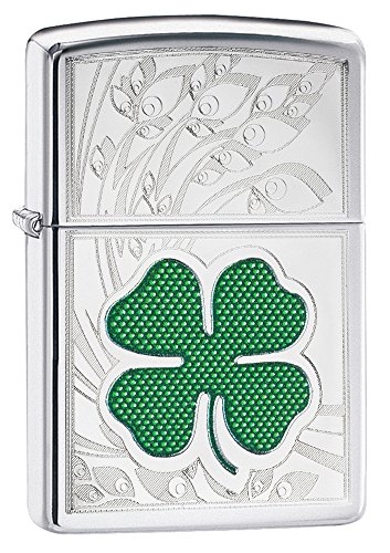 zippo-clover-design-pocket-lighter-high-polish-chrome