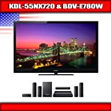 "Sony KDL-55NX720 - 55"" BRAVIA 3D LED-backlit LCD TV + Sony BDV-E780W - 5.1  ...."