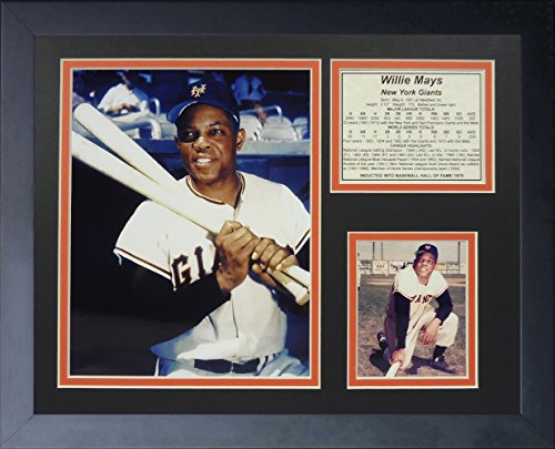 legends-never-die-willie-mays-new-york-giants-framed-photo-collage-11-x-14-inch