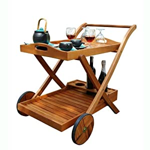 VIFAH V501 Outdoor Wood Serving Cart