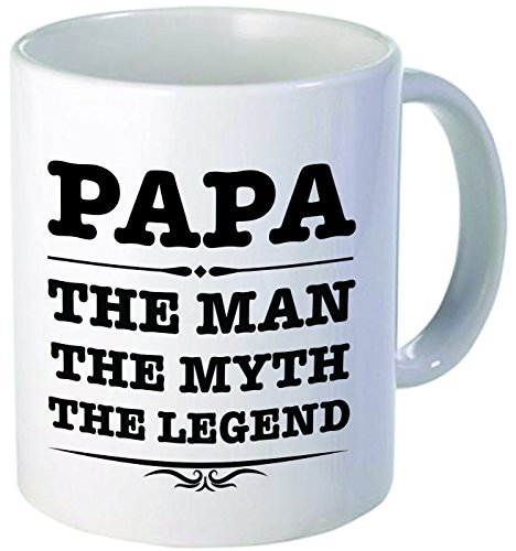 Papa, the man, the myth, the legend - 11OZ ceramic coffee mug - Best funny and inspirational gift
