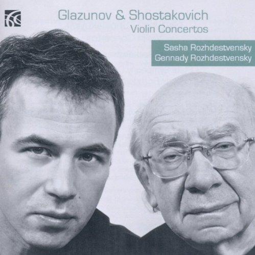 GLAZOUNOV, CHOSTAKOVITCH : CONCERTOS POUR VIOLON. ROJDESTVENSKI.