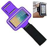 OFTEN Adjustable Armband Running Sports Case Cover Holder Jogging For 4.7 inch Apple iPhone 6 (Purple)