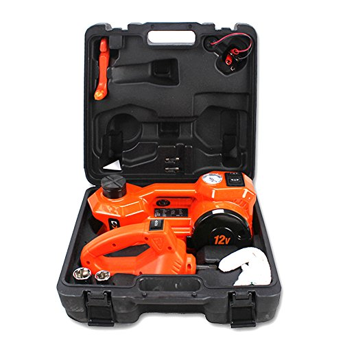 12V DC Electric Hydraulic Floor Jack Set For Car Use (6.1-17.3 inch, Orange) (3 Ton Jack Case compare prices)